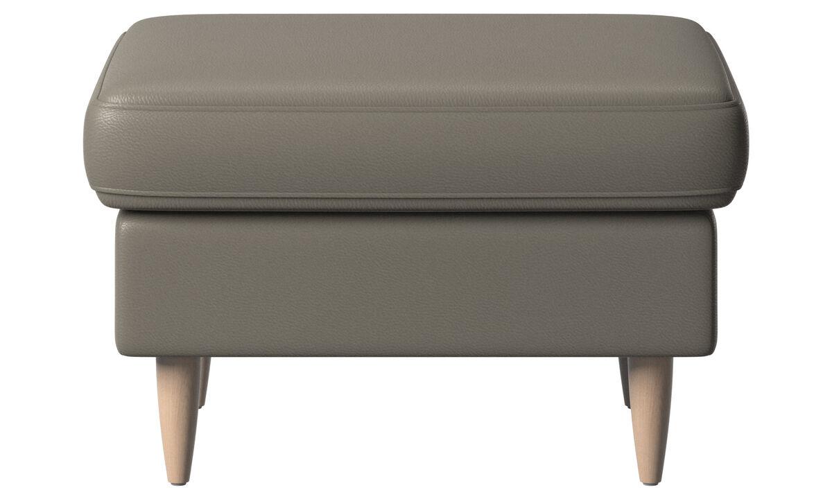 软垫凳 - Indivi 脚凳 - 灰色 - 革