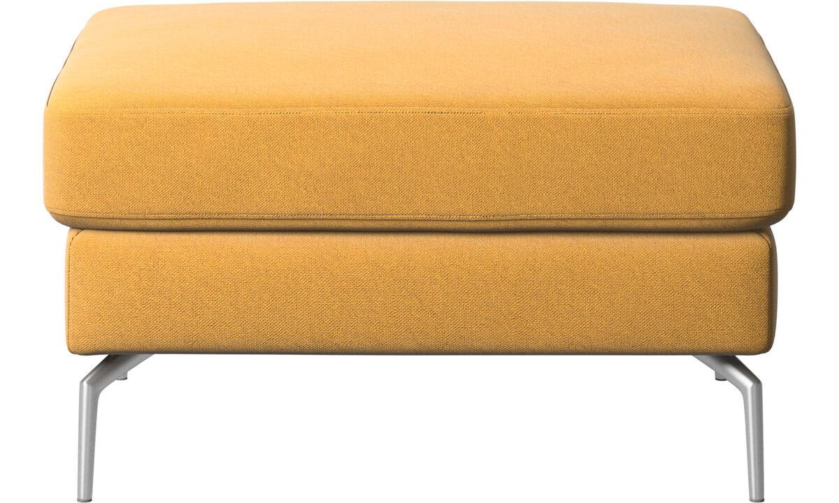 Poufs & repose-pieds - Pouf Osaka, assise classique - Jaune - Tissu