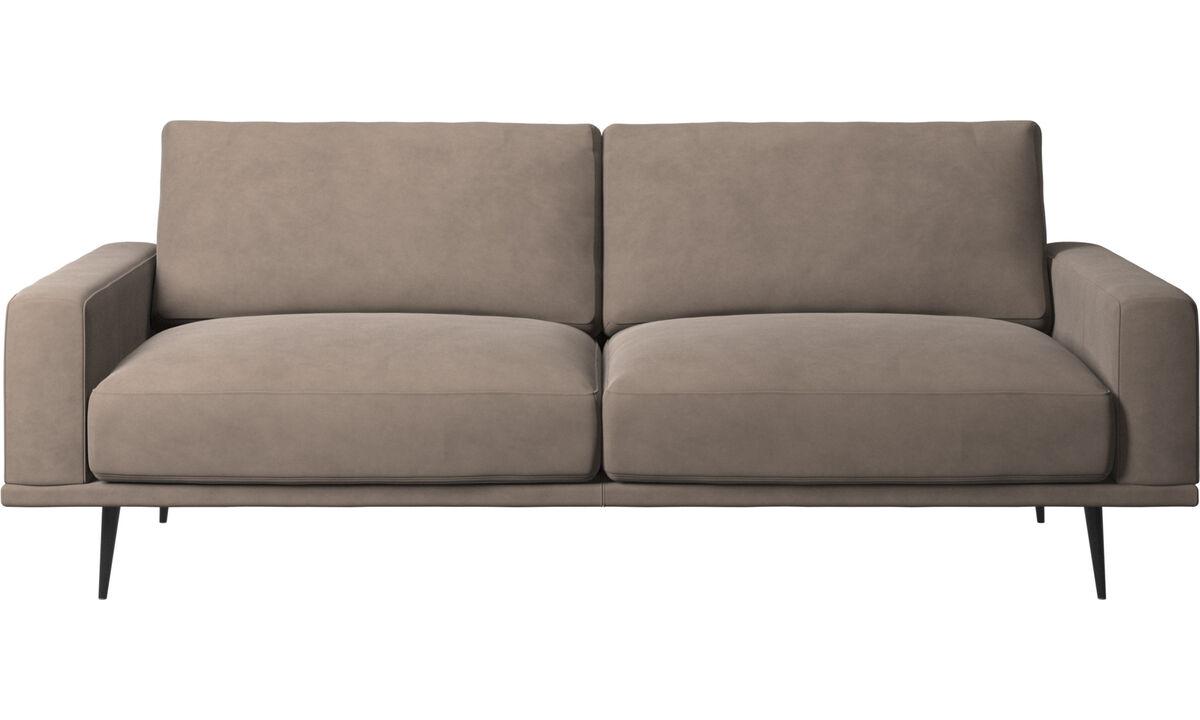 New designs - Carlton sofa - Gray - Leather