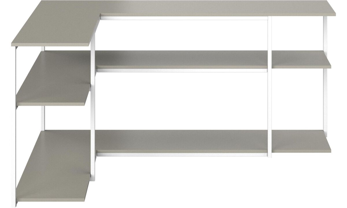 Wall Units - Bordeaux console table - square - Grey - Lacquered