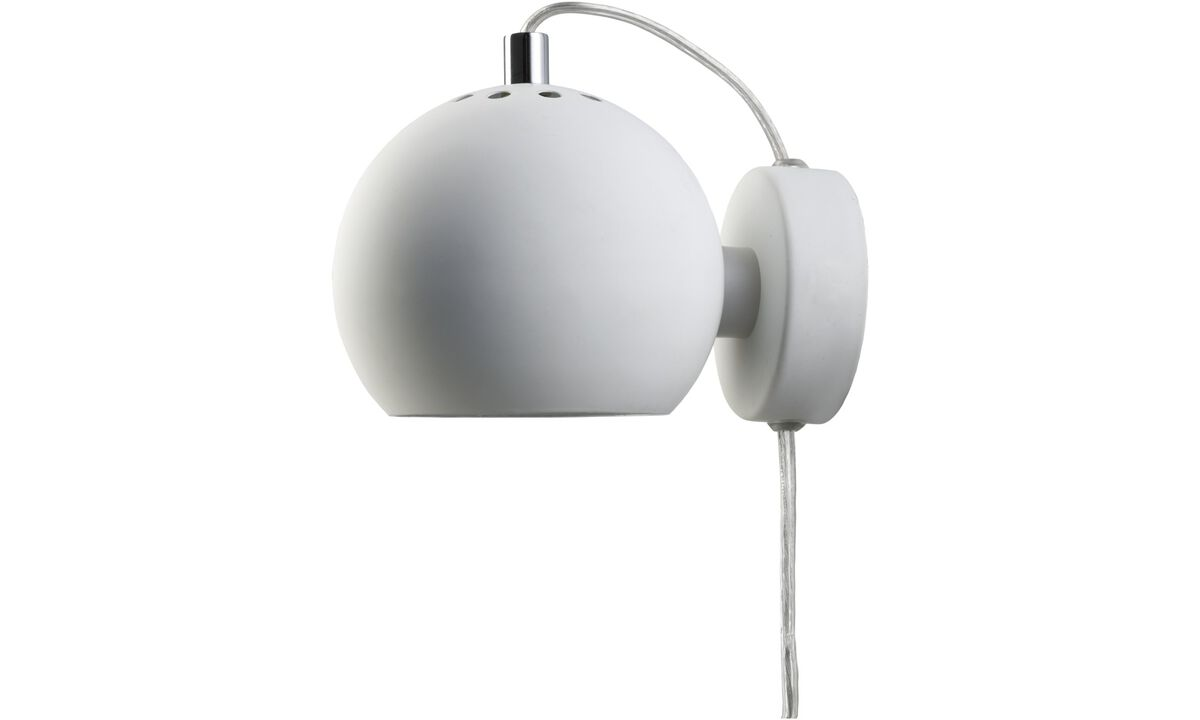 Lamps - Ball wall lamp - White - Metal
