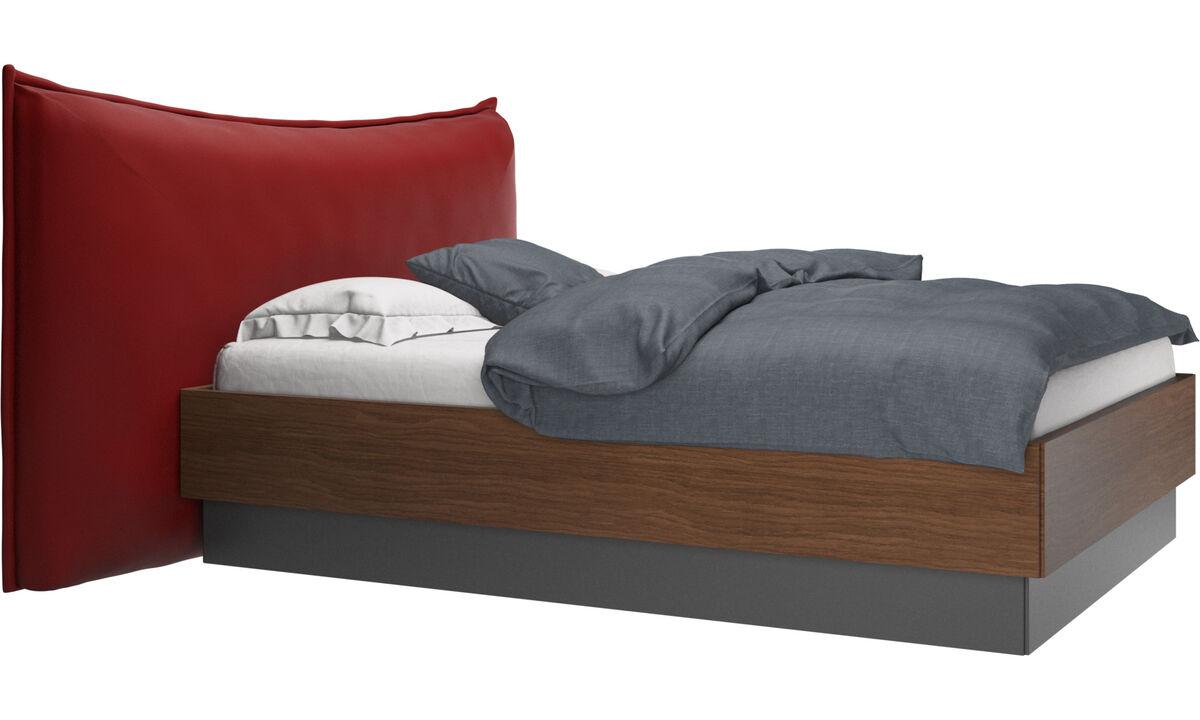 Nuevas camas - Cama con canapé, estructura elevable y tablado, no incluye colchón Gent - Rojo - Piel