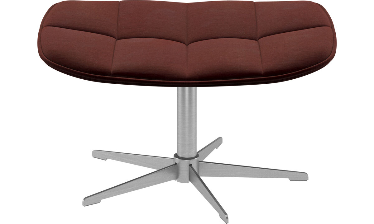 Footstools - Boston footstool - Red - Fabric