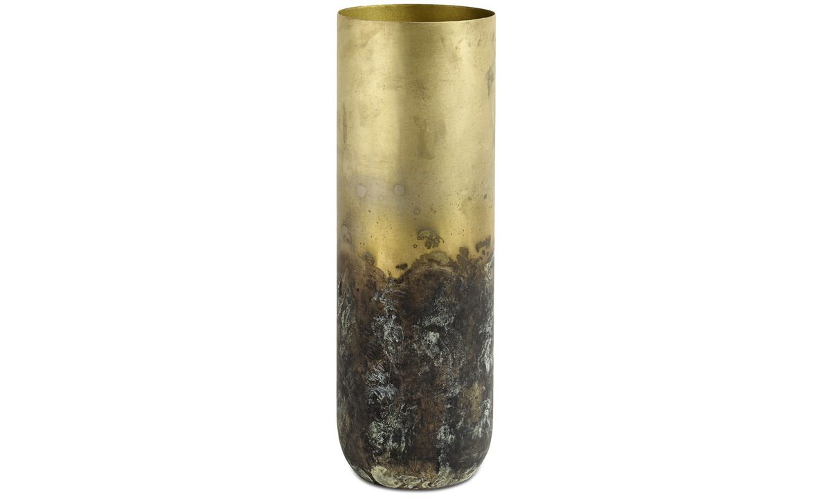 Vases - Oxidized vase - Yellow - Metal
