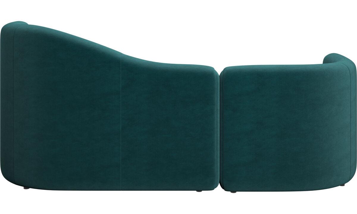 Sofás modulares - sofá Ottawa - En azul - Tela