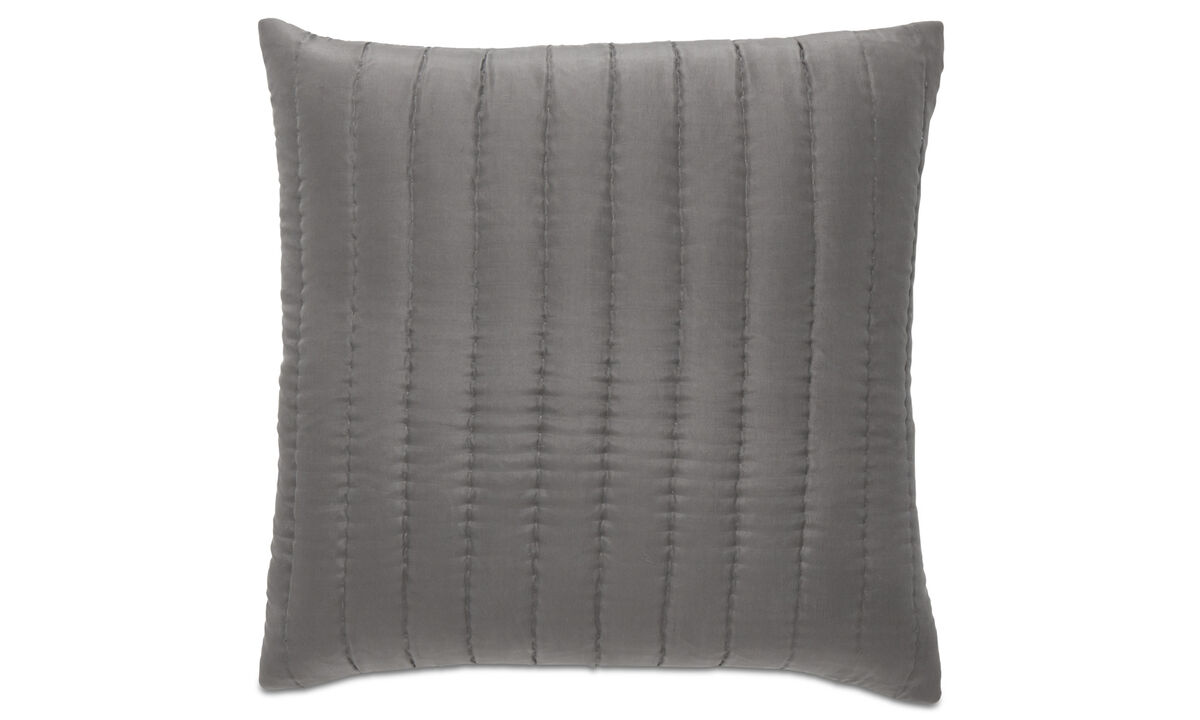 Patterned cushions - Indulge cushion - Grey - Fabric