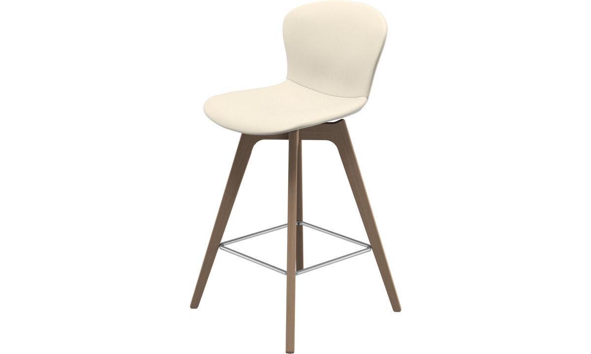 Barstole - Adelaide barstol - Hvid - Læder