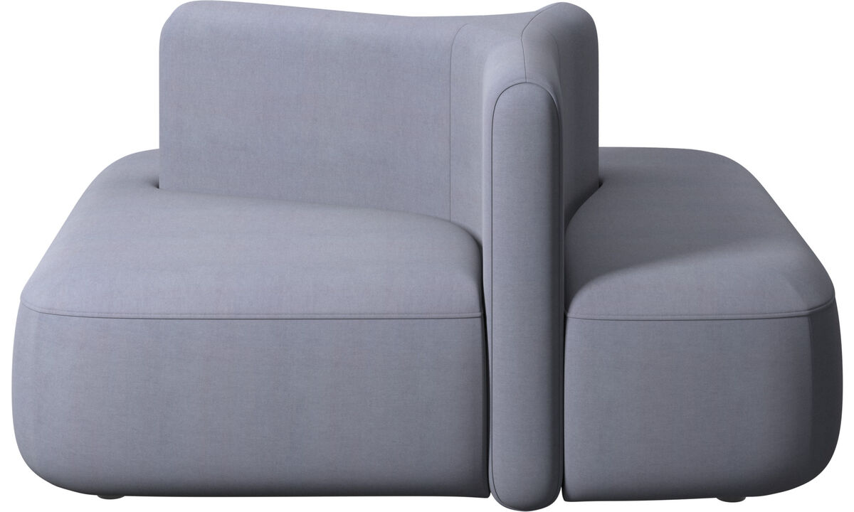 Modular sofas - Ottawa square low back - Blue - Fabric