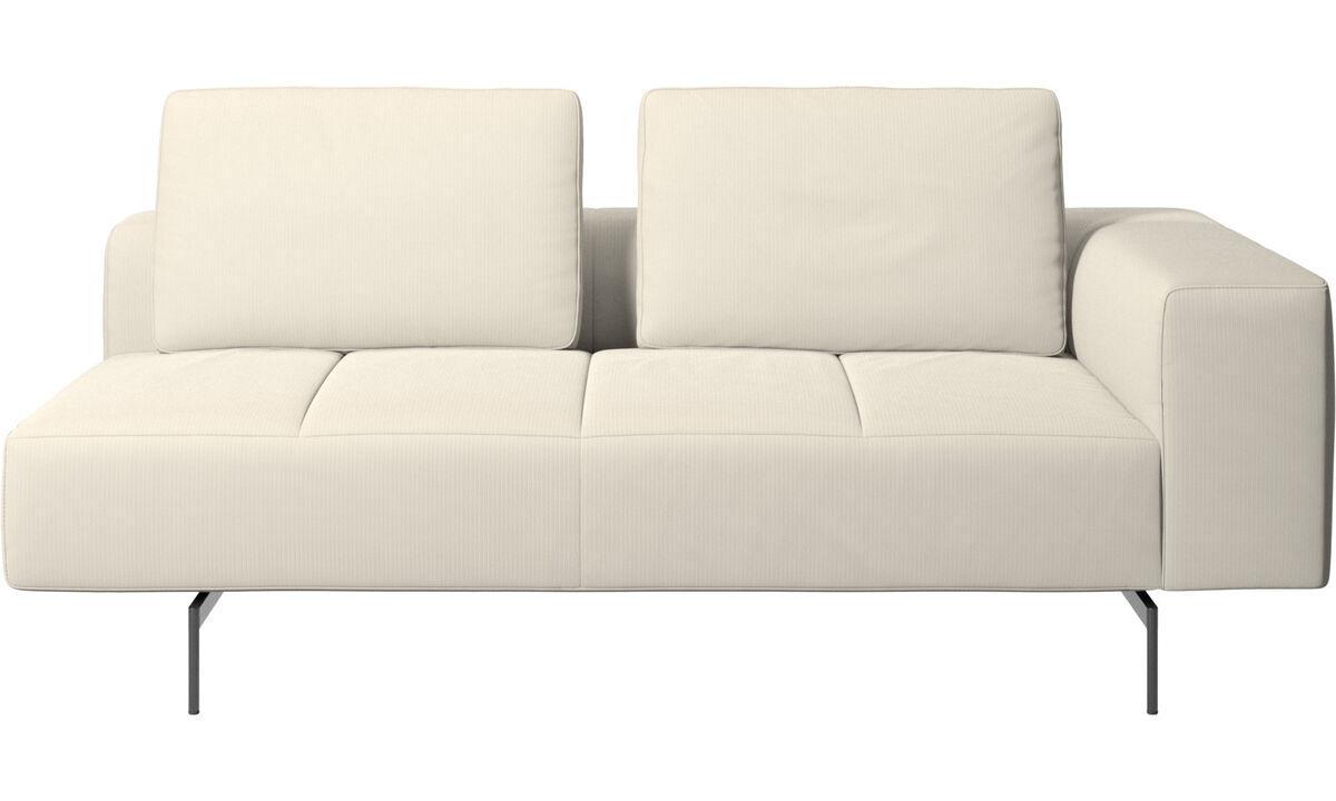 2½ personers sofaer - Amsterdam 2,5 siddemodul, armlæn højre - Hvid - Stof