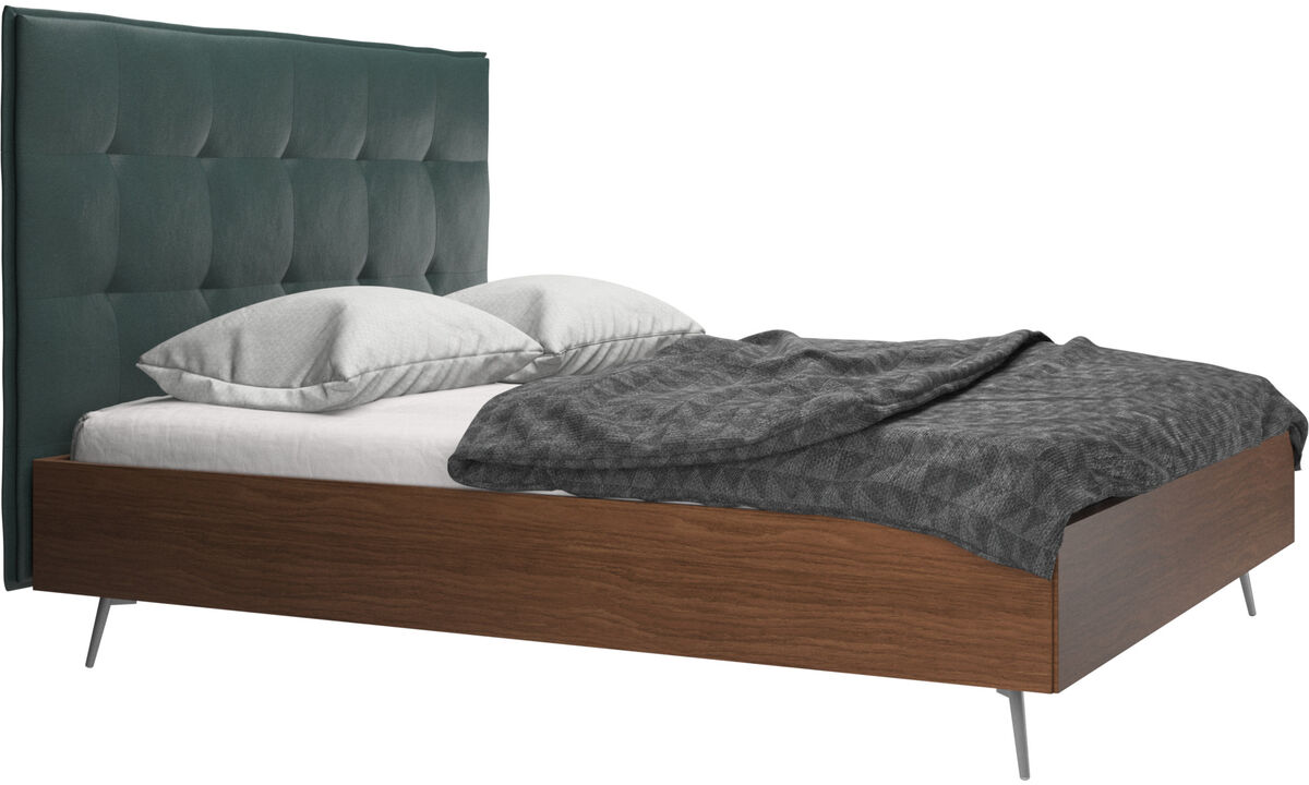 Beds - Lugano bed, excl. mattress - Green - Fabric