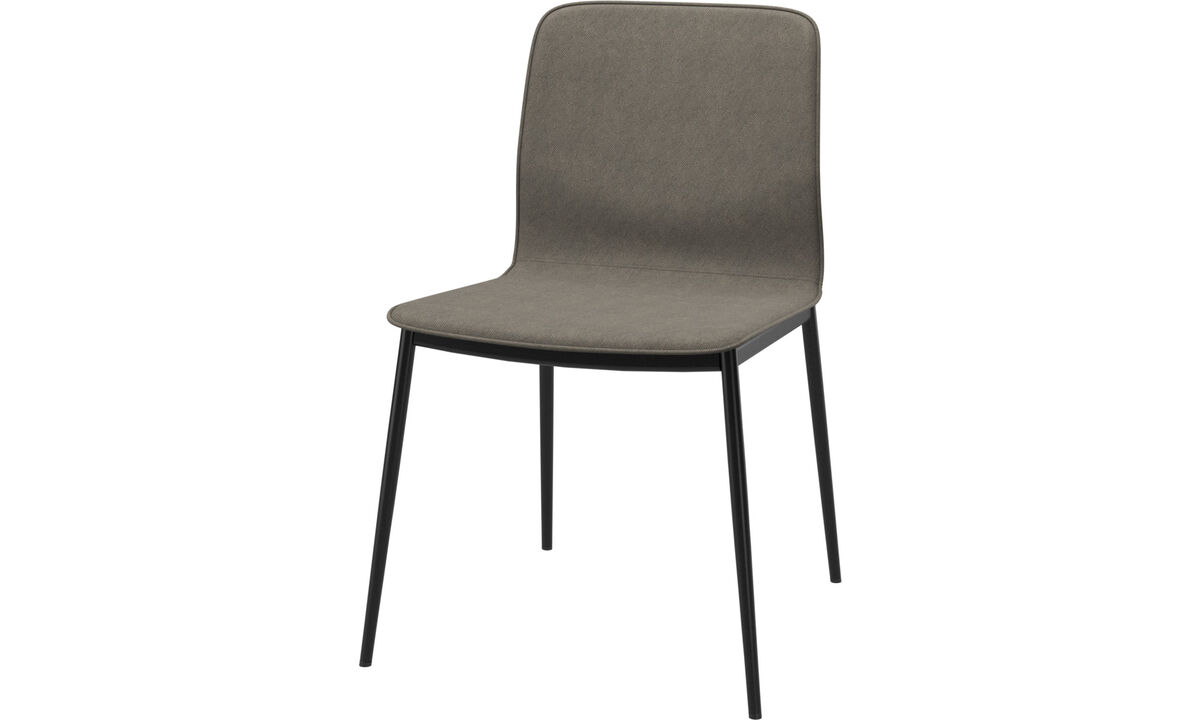 Dining chairs - Newport dinning chair with standard fabric - Brown - Fabric