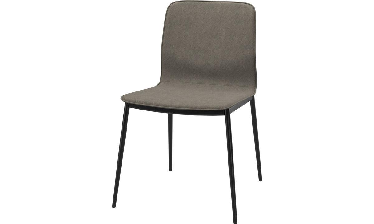 Sillas de comedor - silla de comedor Newport en tela estándar - En marrón - Tela