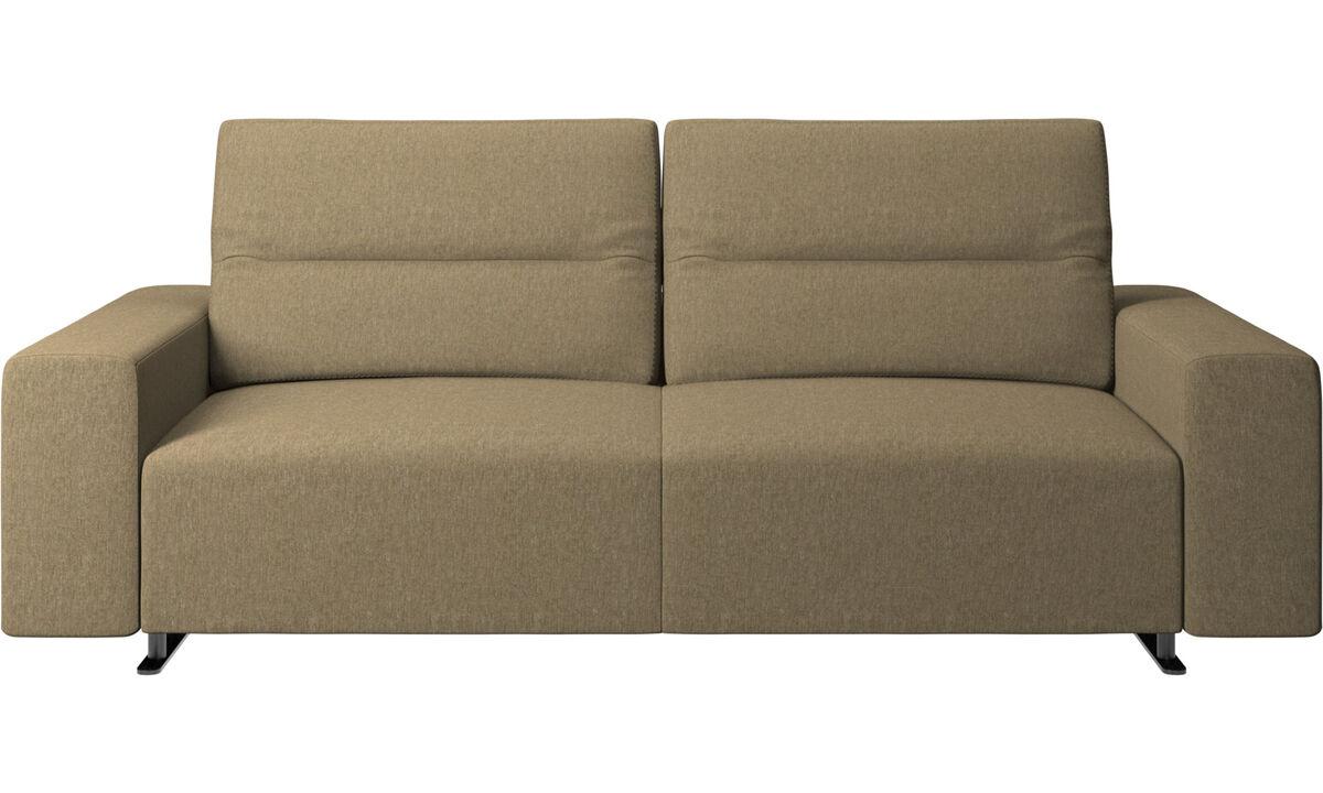 2.5 seater sofas - Hampton sofa with adjustable back - Green - Fabric
