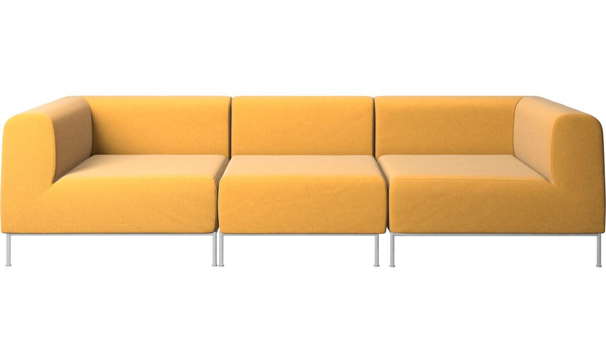 Sofás modulares - Sofá Miami - En amarillo - Tela