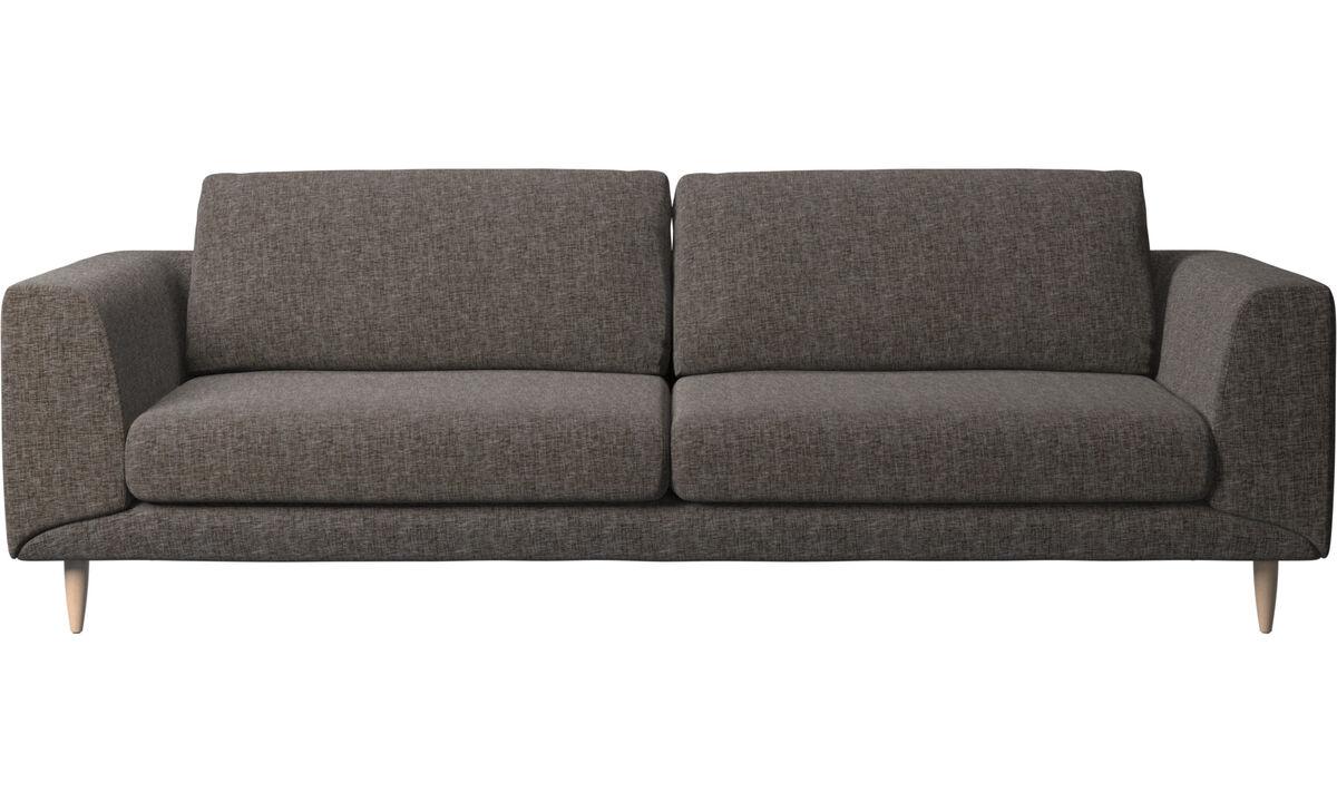 3-sitzer Sofas - Fargo Sofa - Braun - Stoff