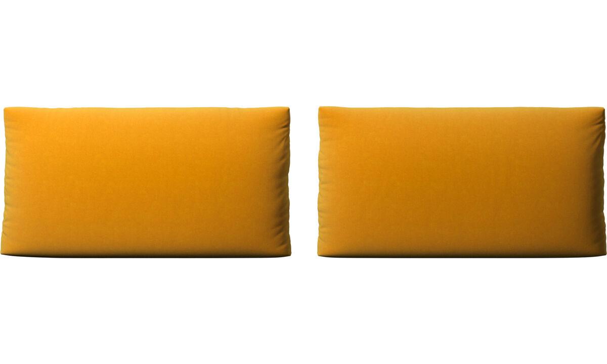 Accesorios para muebles - cojines de sofá Nantes - Naranja - Tela