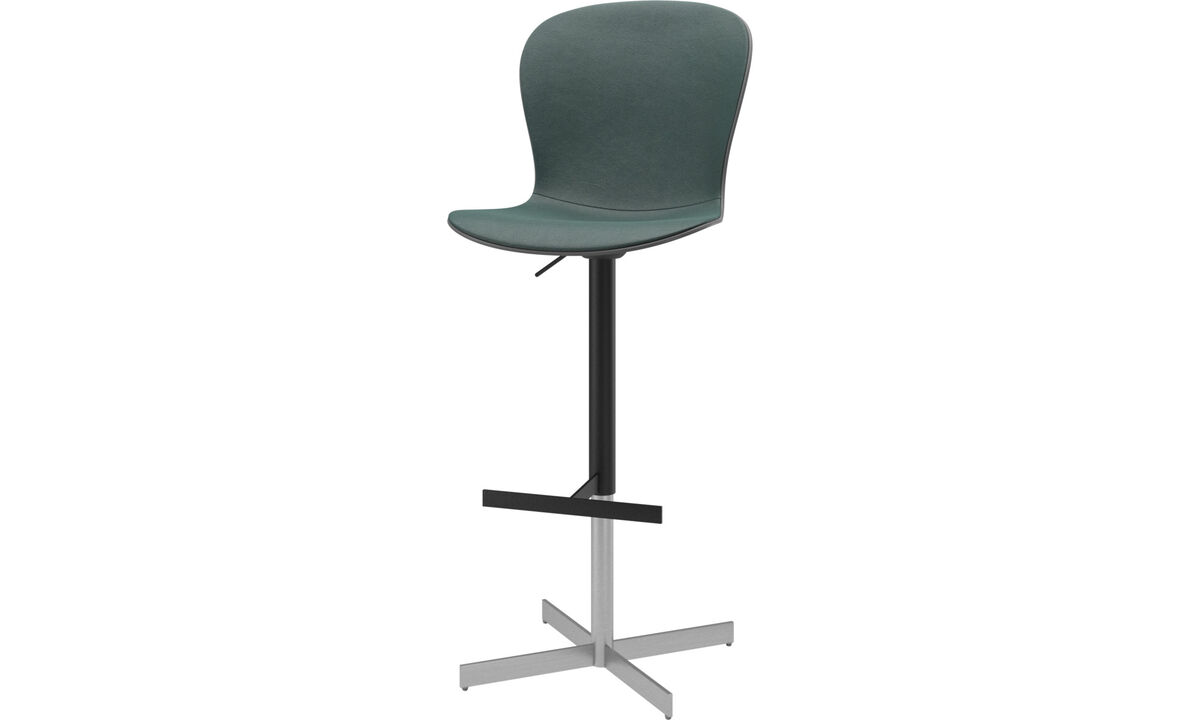 Bar stools - Adelaide barstool with gas cartridge - Grey - Fabric