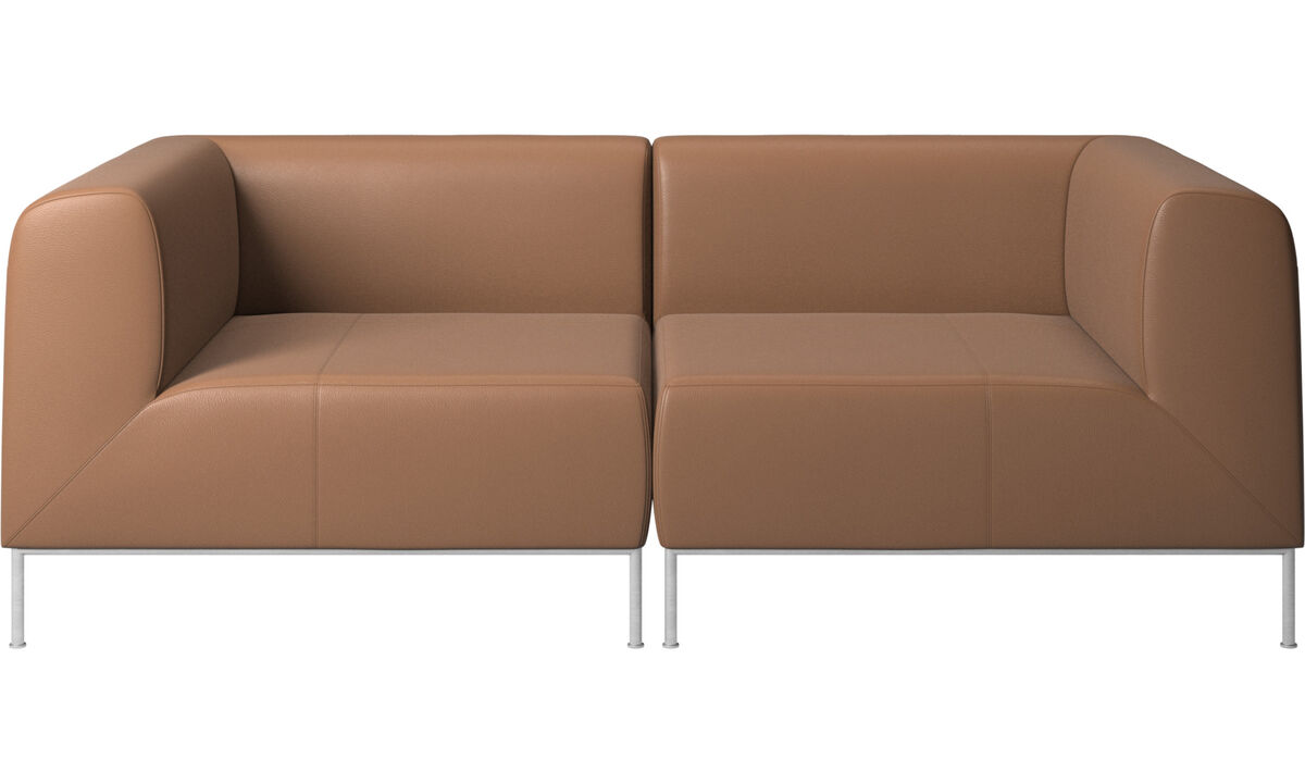 Modular sofas - Miami sofa - Brown - Leather