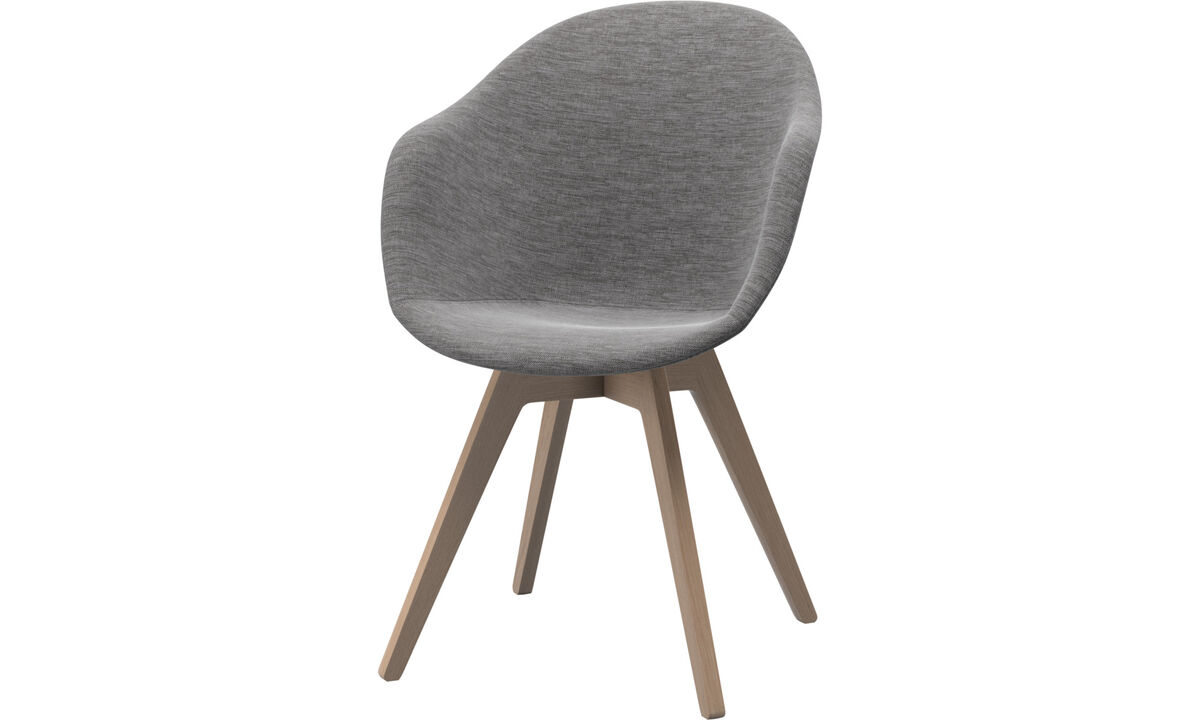 Dining chairs - Adelaide chair - Gray - Fabric