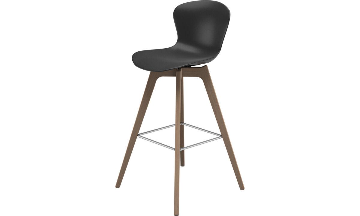 Bar stools - sgabello Adelaide - Nero - Plastica