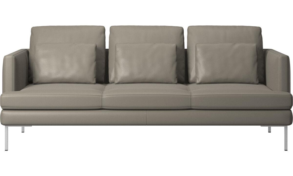 3 seater sofas - Istra 2 sofa - Grey - Leather