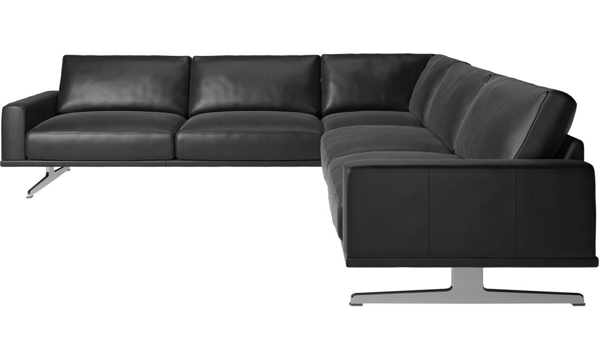 Sofas - Carlton corner sofa - Black - Leather