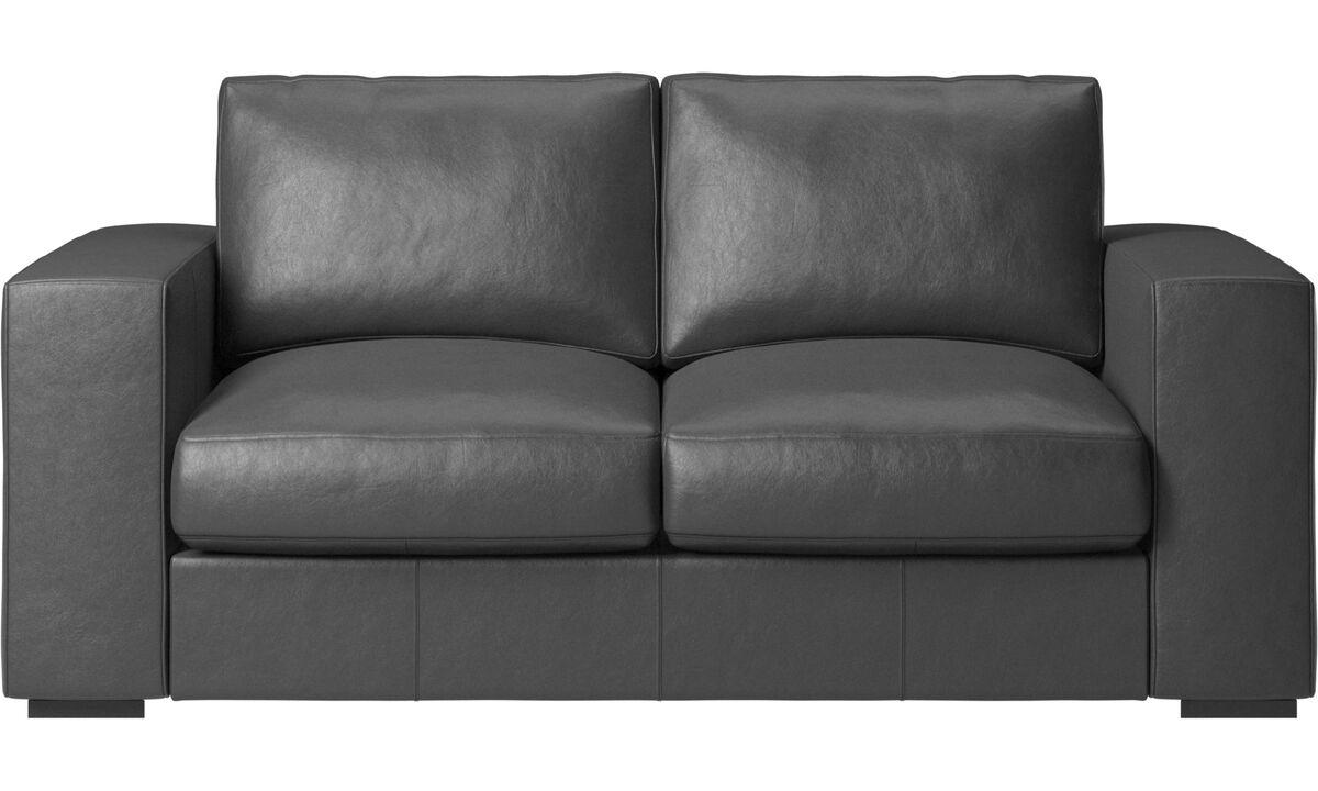 2 seater sofas - Cenova sofa - Black - Leather