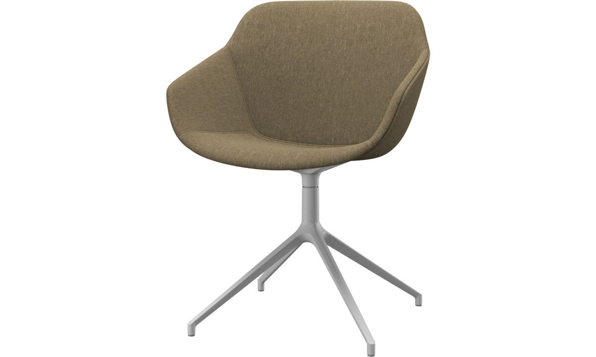 Dining chairs - Vienna chair with swivel function - Green - Fabric