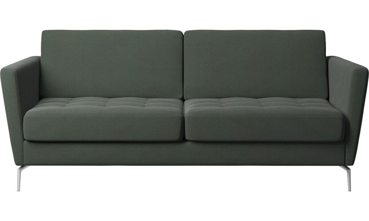 Sofa beds - Osaka sofa bed, tufted seat - Green - Fabric