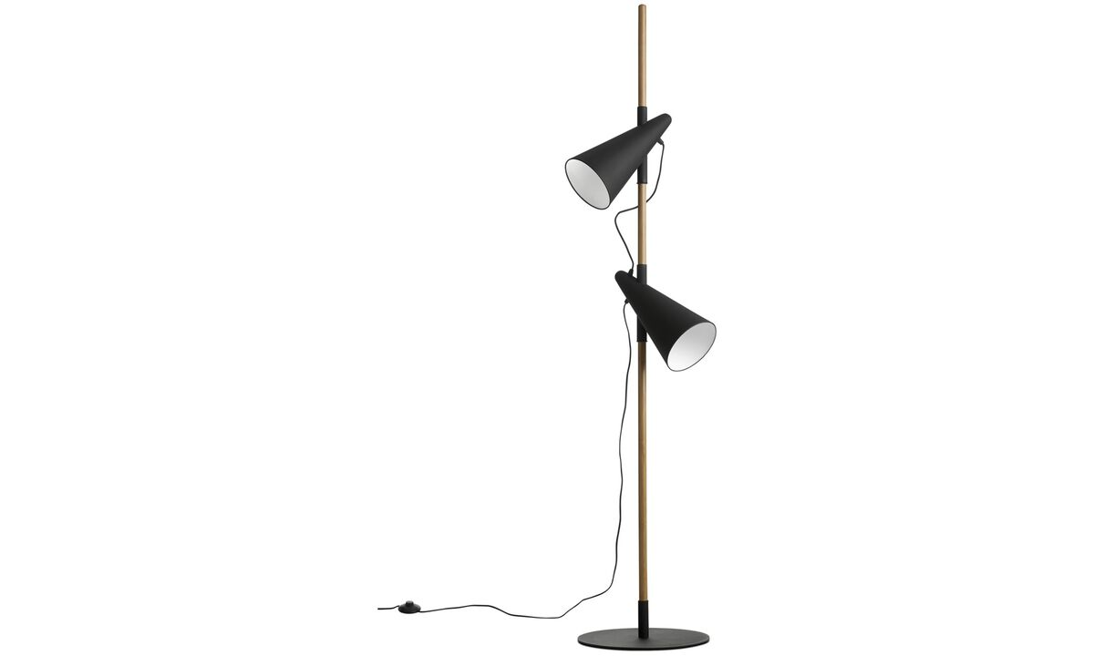 Lamps - Cone floor lamp - Brown - Oak