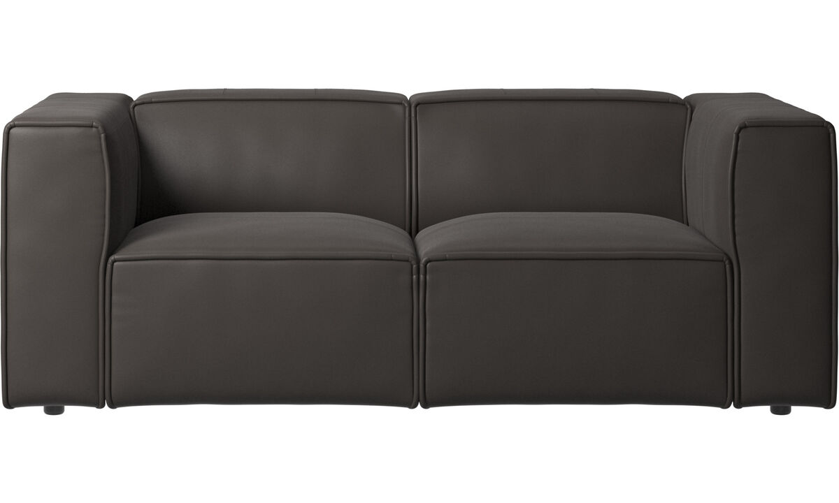 Sofás modulares - Sofá Carmo - En marrón - Piel