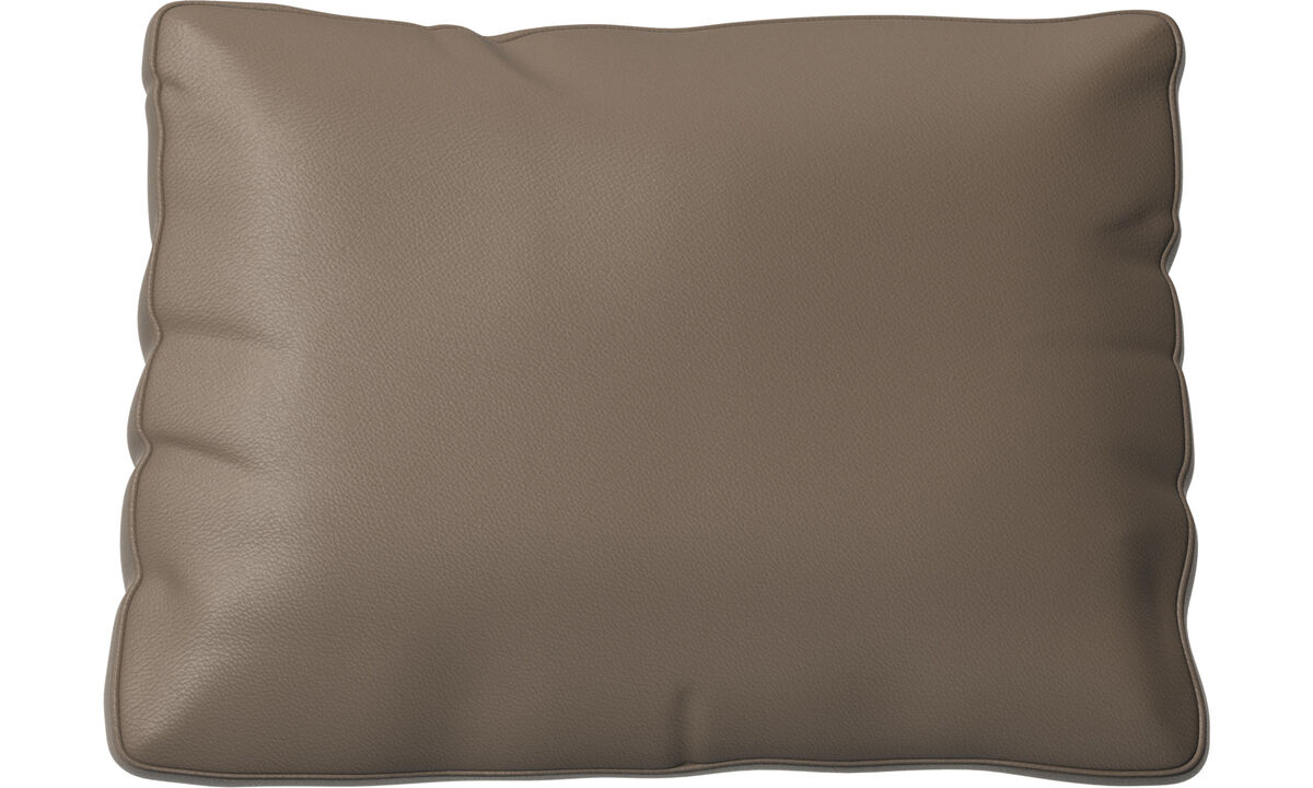 Furniture accessories - Miami cushion - Grey - Leather