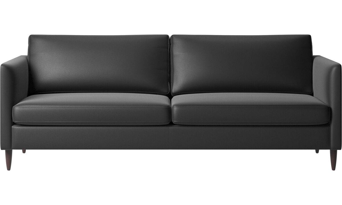 3 seater sofas - Indivi divano - Nero - Pelle