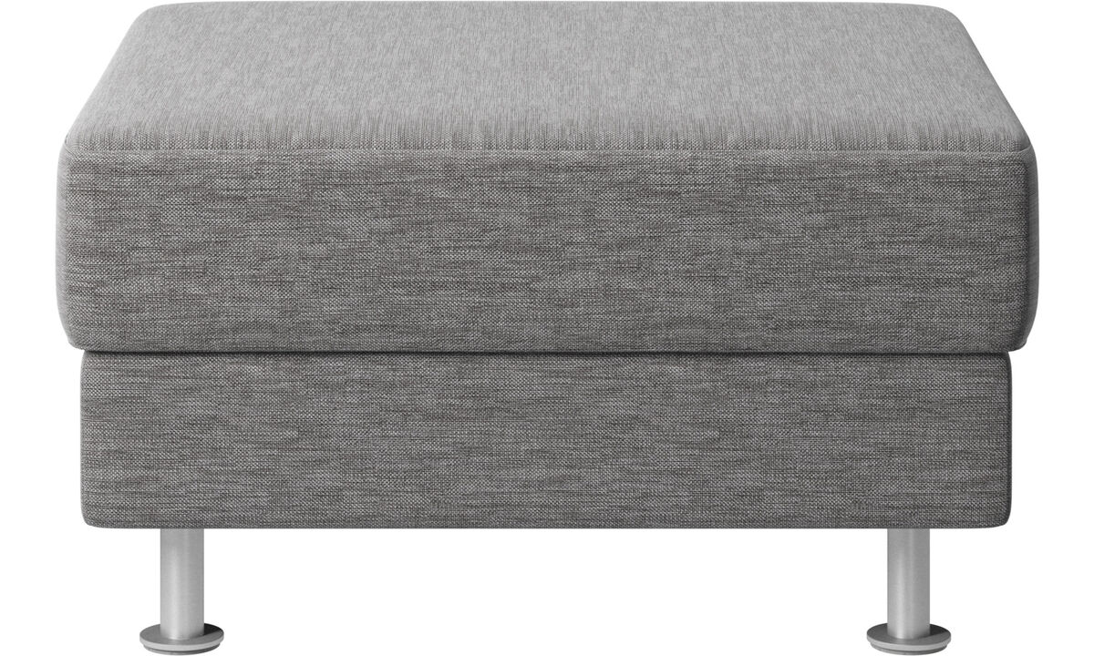 Footstools - Indivi 2 footstool - Grey - Fabric