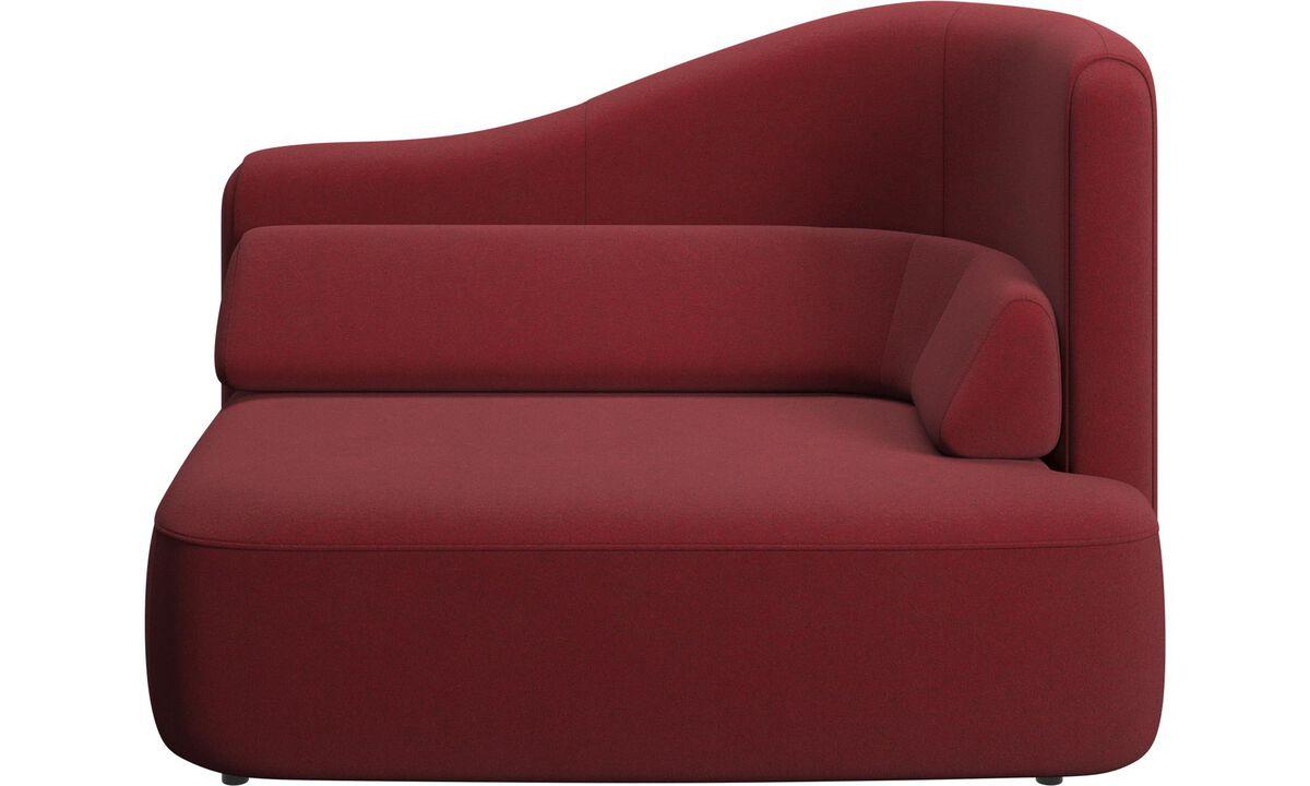 Modulære sofaer - Ottawa 1,5 personers højre armlæn - Rød - Stof