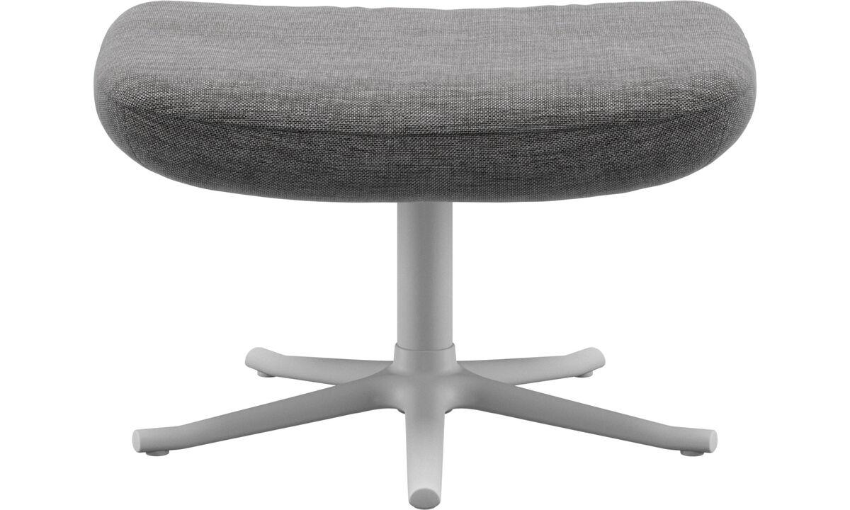 Footstools - Lucca footstool - Grey - Fabric