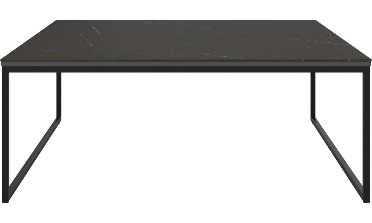 Side tables - Lugo coffee table - rectangular - Black - Oak