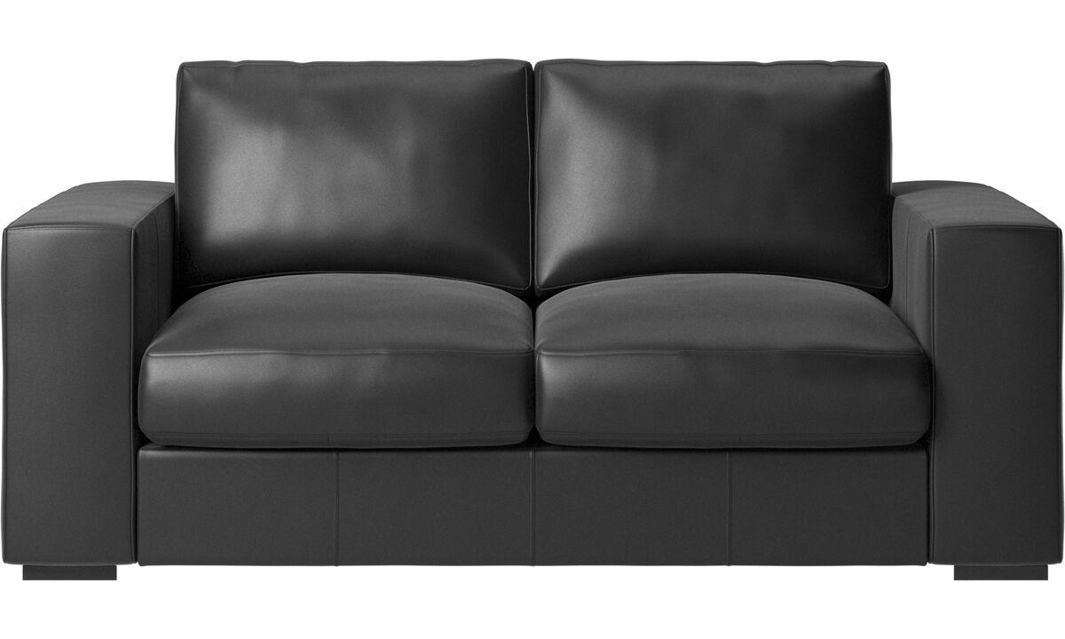 Sofás de 2 plazas - Sofá Cenova - En negro - Piel