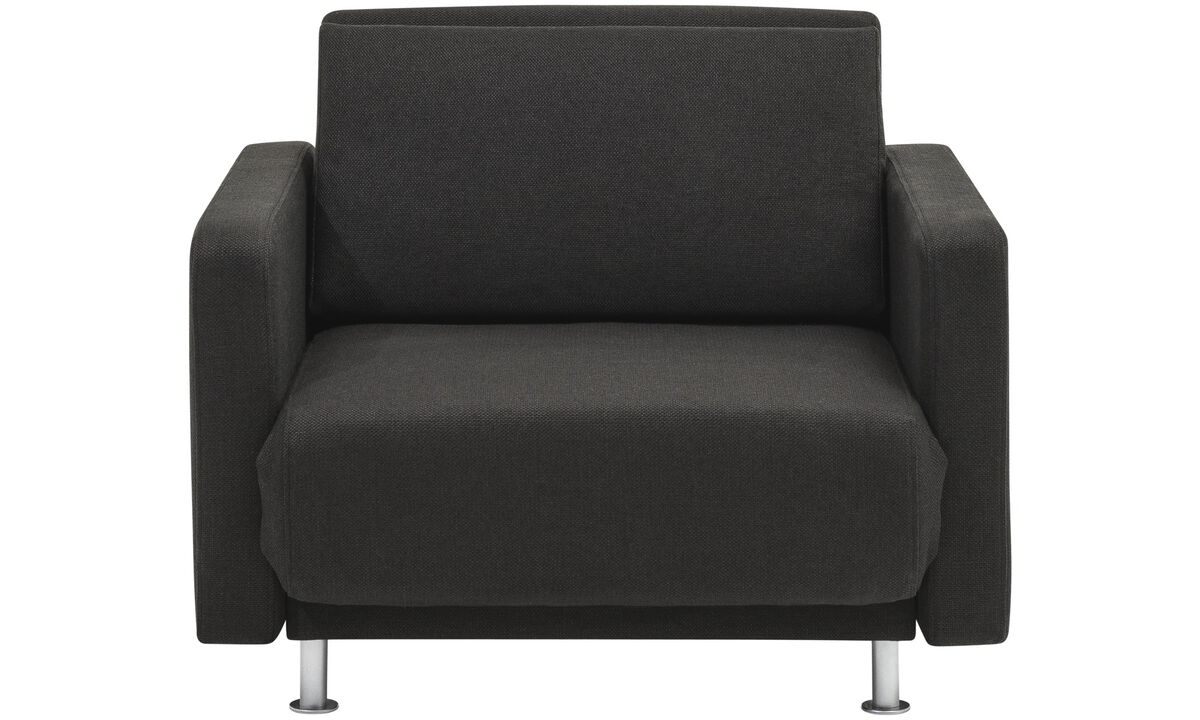 Armchairs - Melo 2 chair with reclining and sleeping function - Black - Fabric
