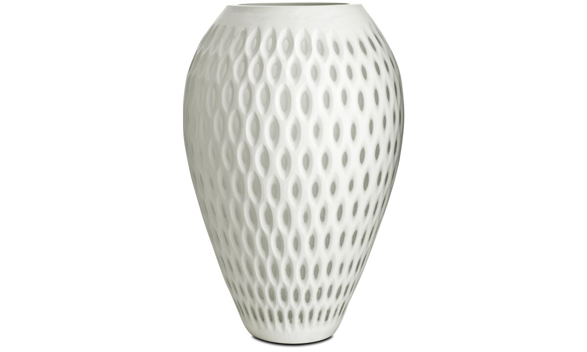 Vaser - Oval dot vase - Hvit - Glass