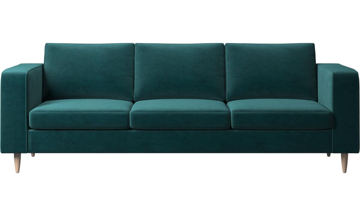 Sofás de 3 plazas - sofá Indivi 2 - En azul - Tela