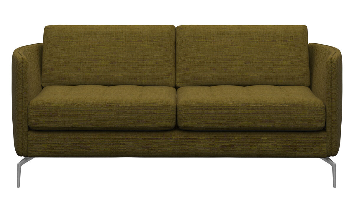 Sofas - Osaka sofa, tufted seat - Yellow - Fabric
