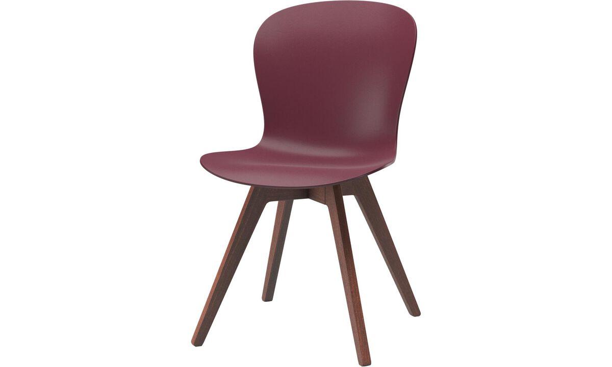 Gartenstühle - Adelaide Stuhl (für den Innen- und Außenbereich geeignet) - Rot - Kunststoff