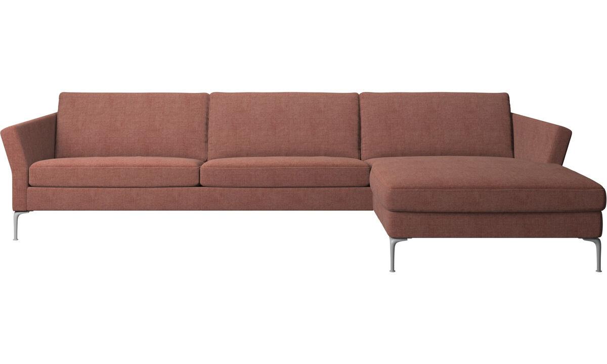Sofás con chaise longue - sofá Marseille con módulo chaise-longue - Rojo - Tela