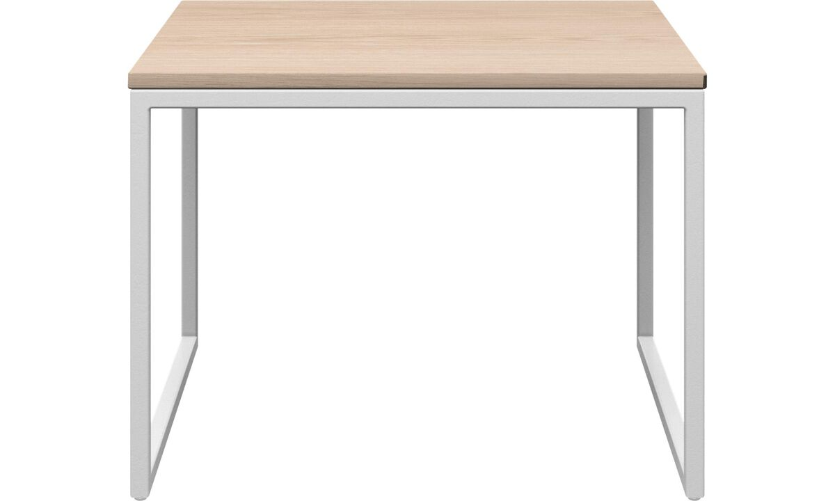 Tables basses - table basse Lugo - rectangulaire - Blanc - Chêne