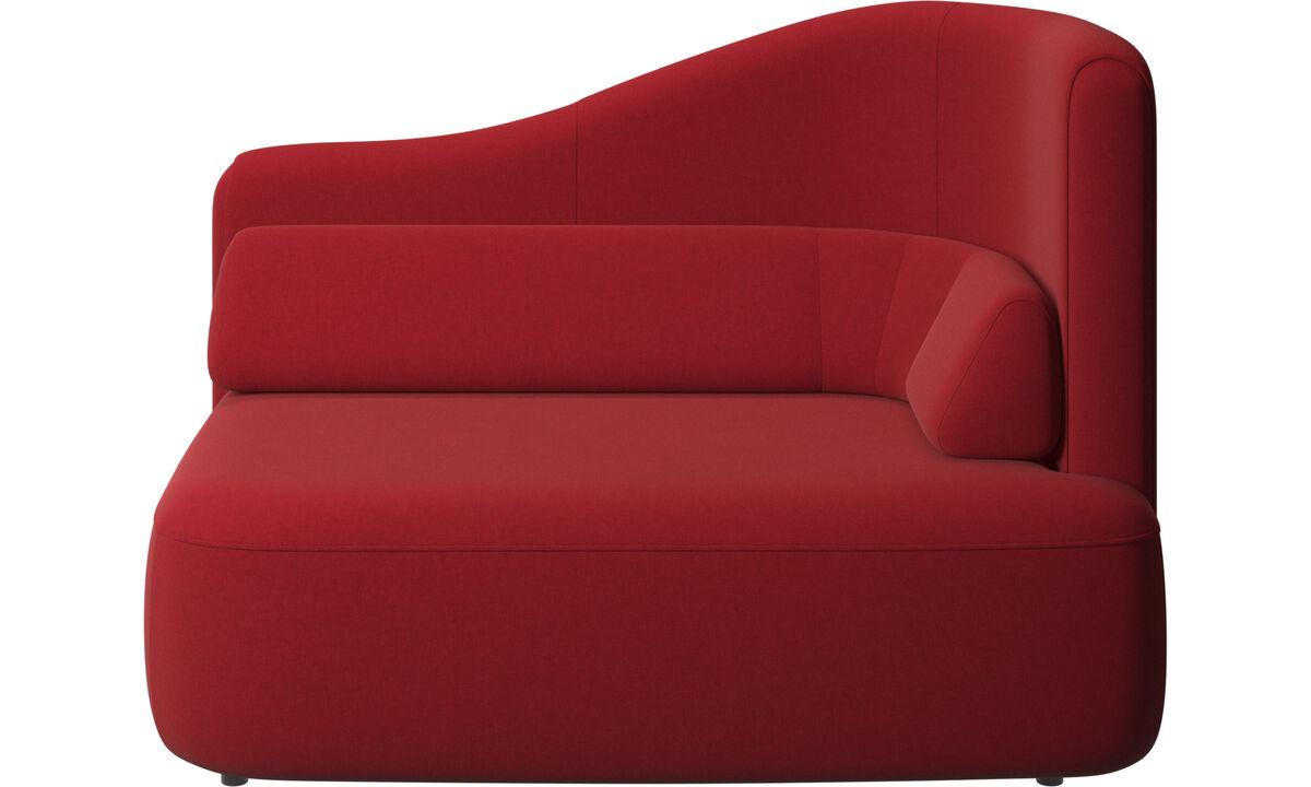 Sofás modulares - assento Ottawa 1,5 braço direito - Vermelho - Tecido