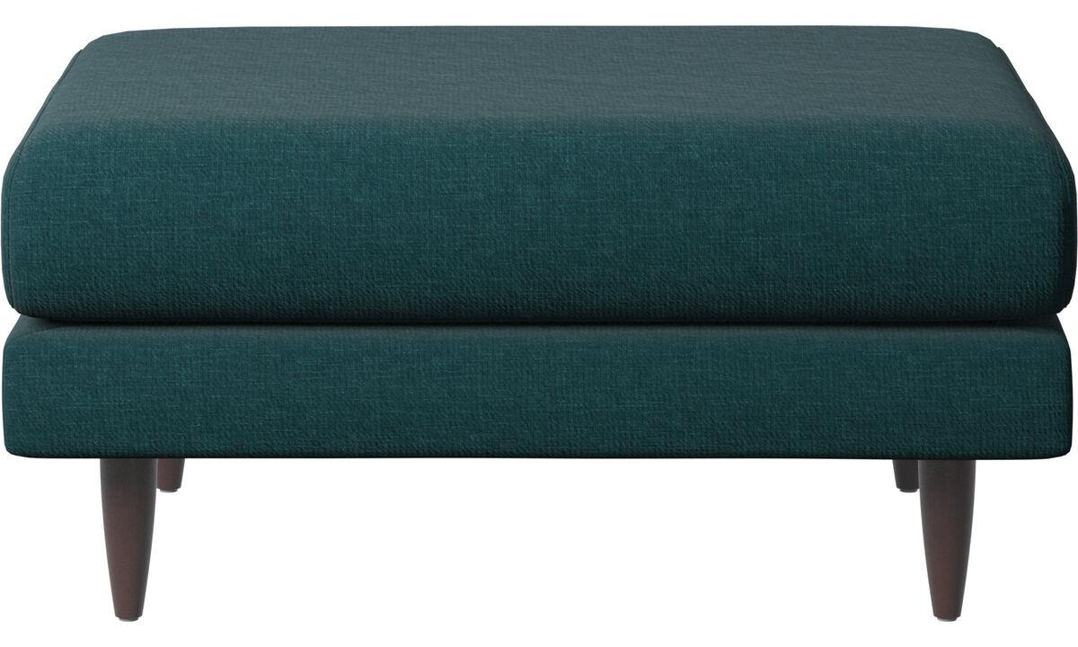 Footstools - Fargo footstool - Blue - Fabric