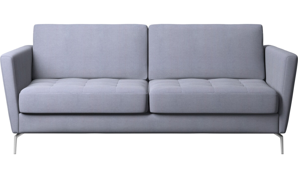 Sofa beds - Osaka sofa bed, tufted seat - Blue - Fabric