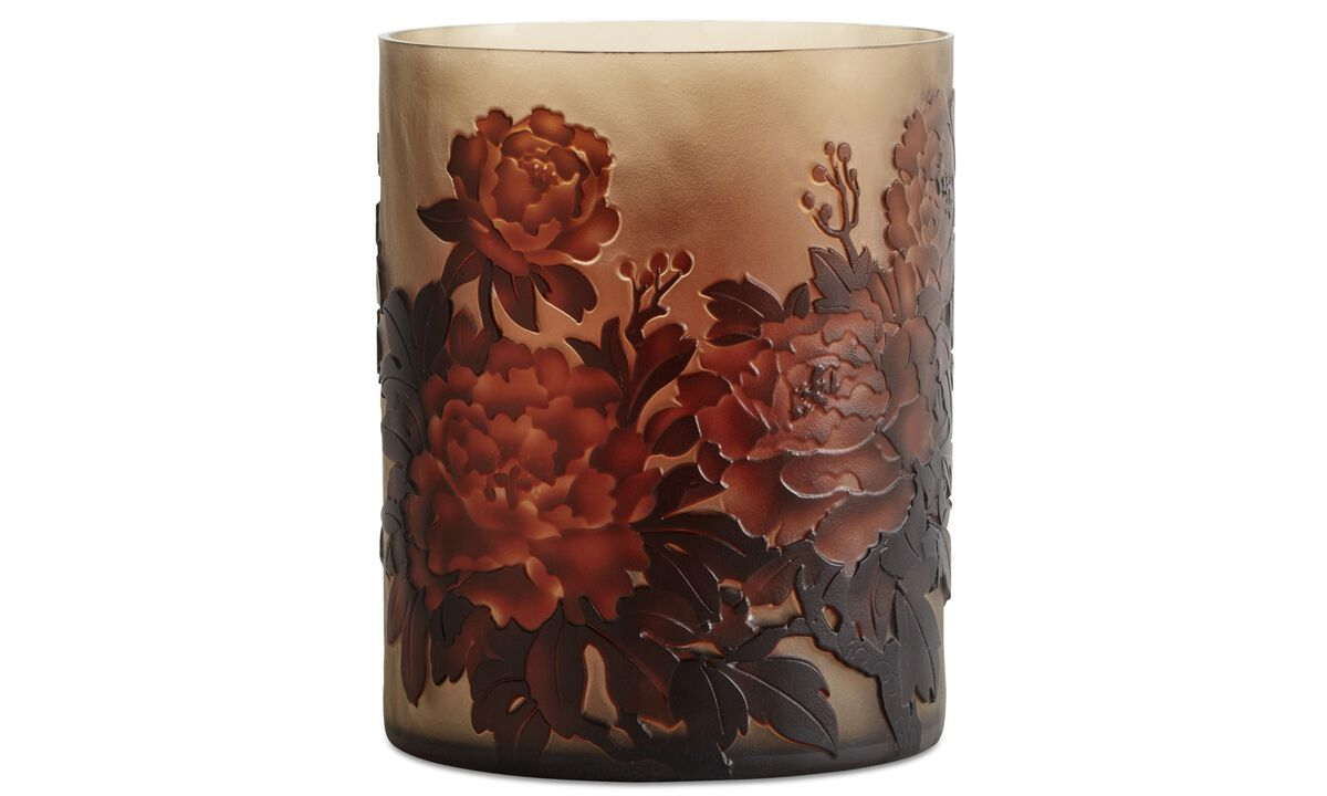 Vases - Bloom Vaso - Arancio - Cristallo