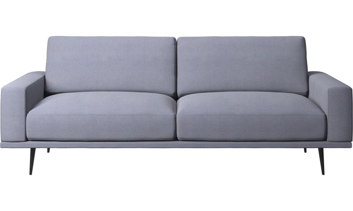 Canapés 2 places et demi - canapé Carlton - Bleu - Tissu